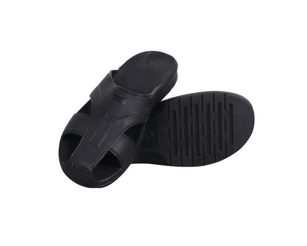 防静电SPU黑色护趾拖鞋