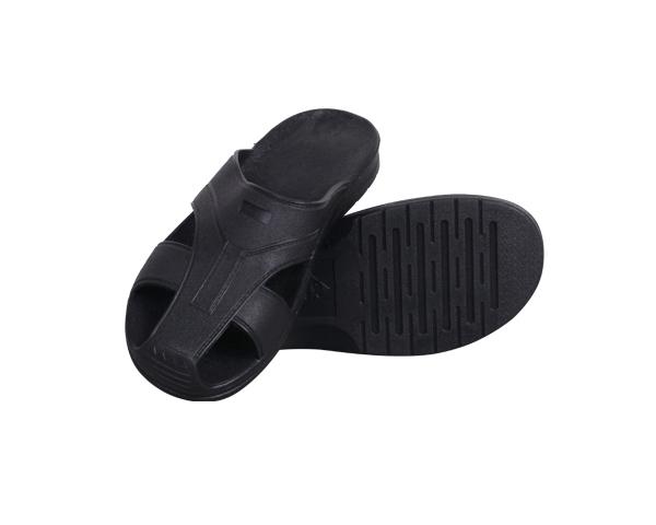 浙江防静电SPU黑色护趾拖鞋