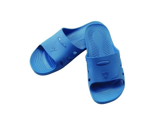 防静电SPU蓝色拖鞋